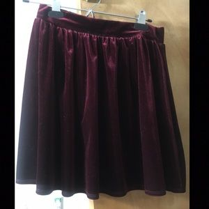 Garage Red Velvet Skirt